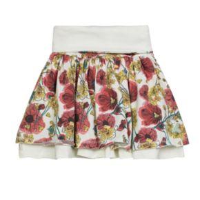 Toddler Girl Burt's Bees Baby Crochet Sleeve Tee & Reversible Skirt Set