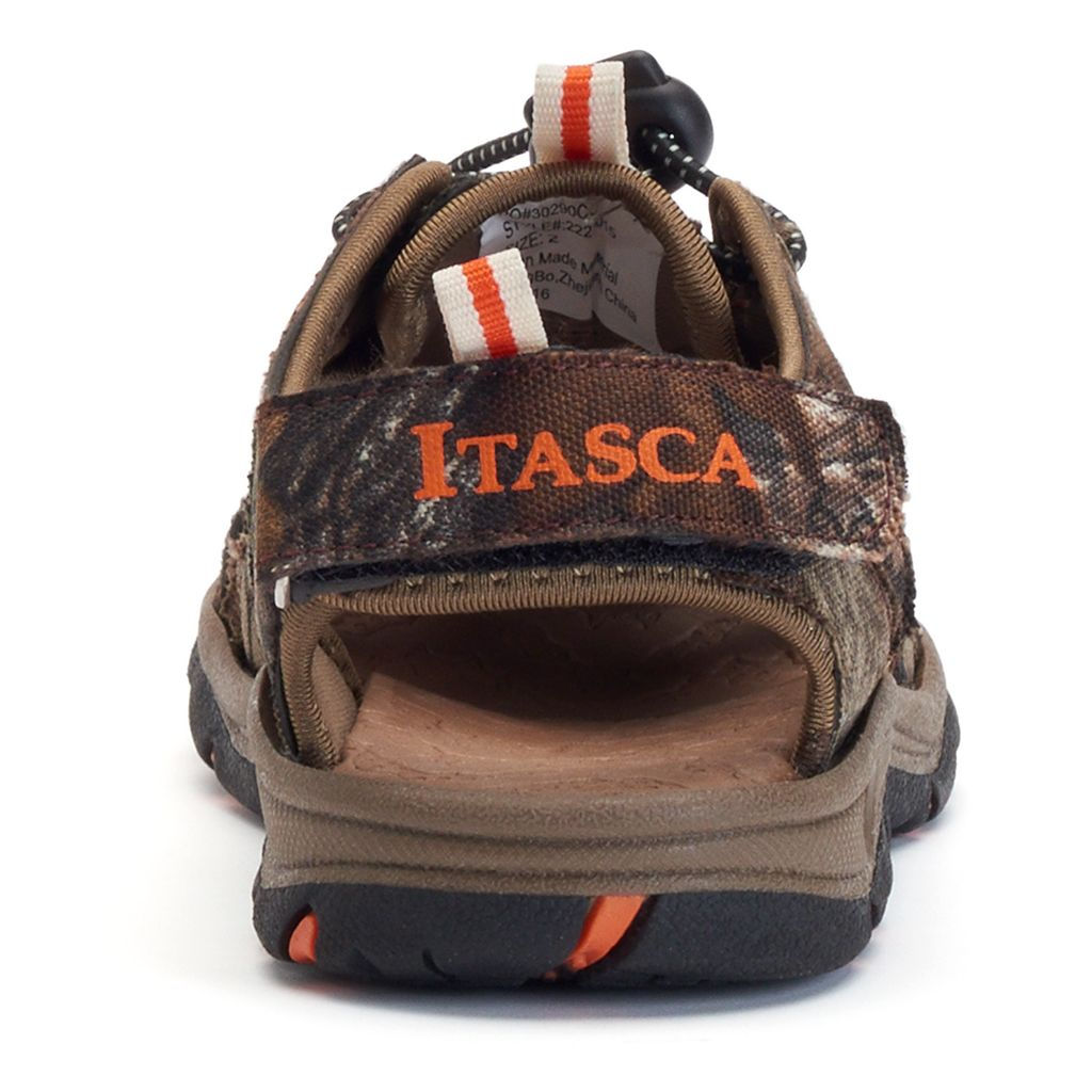 Itasca West Lake Boys' Camouflage Sandals