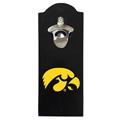 Iowa Hawkeyes Wall-Mounted Bottle Opener