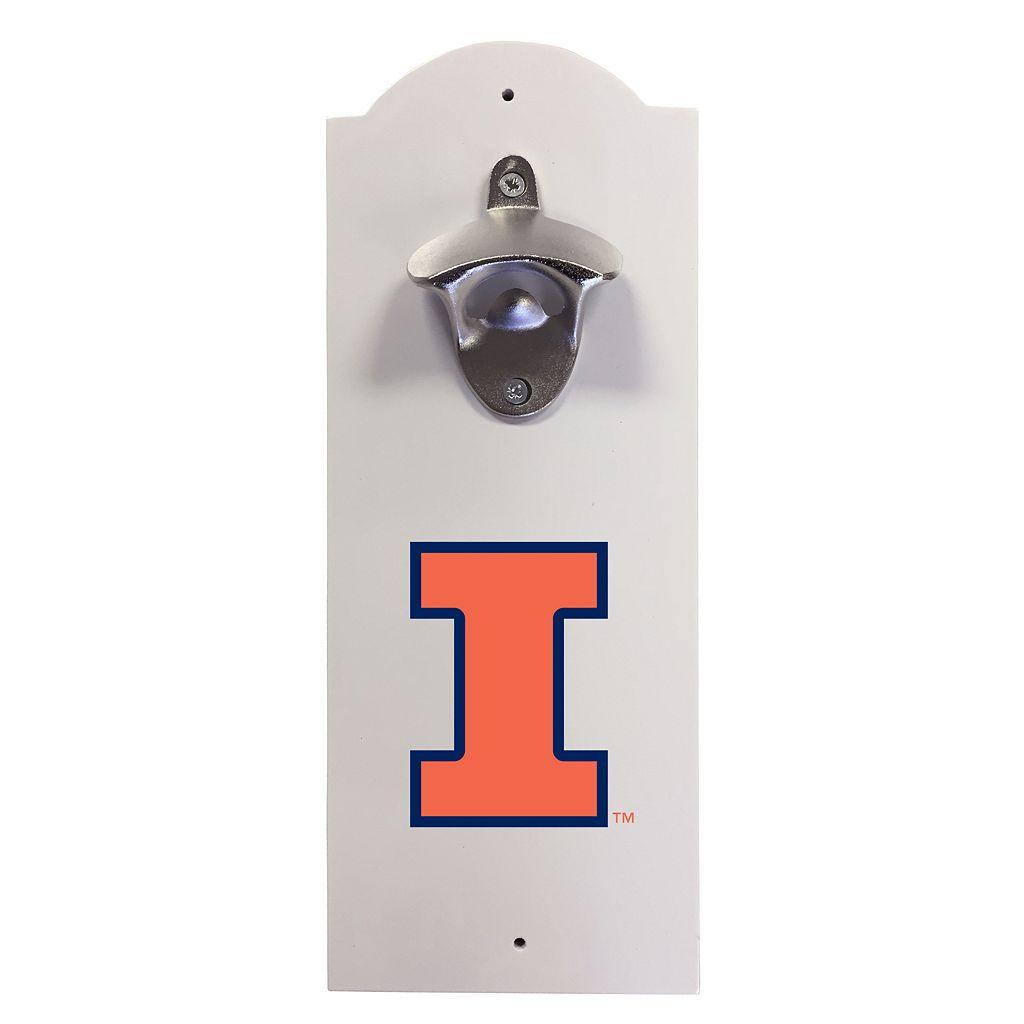 Illinois Fighting Illini Wall-Mounted Bottle Opener