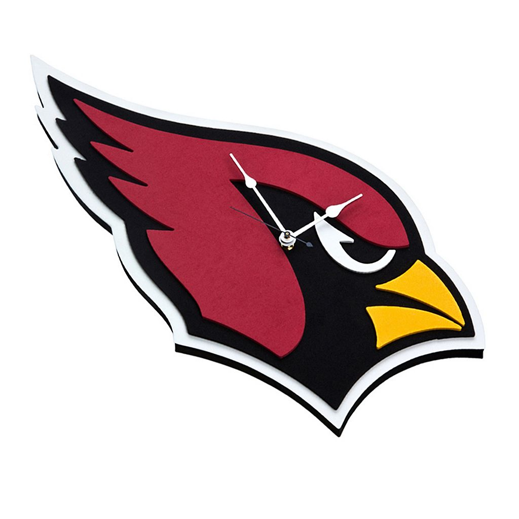 Arizona Cardinals 3D Foam Wall Clock