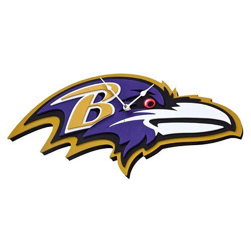 Baltimore Ravens 3D Foam Wall Clock