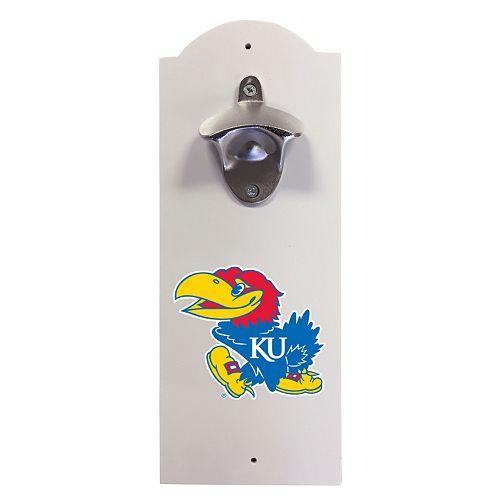 Kansas Jayhawks Wall-Mounted Bottle Opener