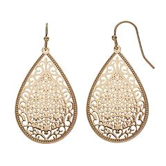 LC Lauren Conrad Filigree Teardrop Earrings