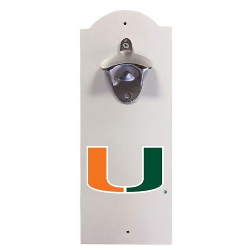 miami hurricanes wall mounted bottle opener. Black Bedroom Furniture Sets. Home Design Ideas