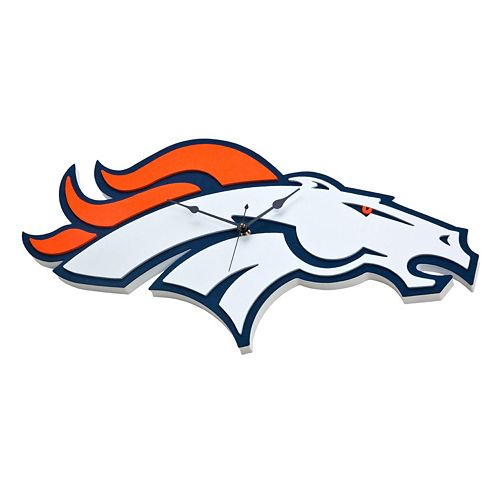 Denver Broncos 3D Foam Wall Clock