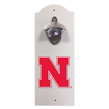 Nebraska Cornhuskers Wall-Mounted Bottle Opener