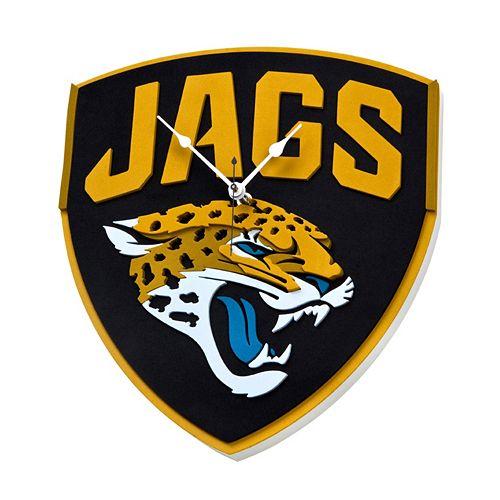Jacksonville Jaguars 3D Foam Wall Clock