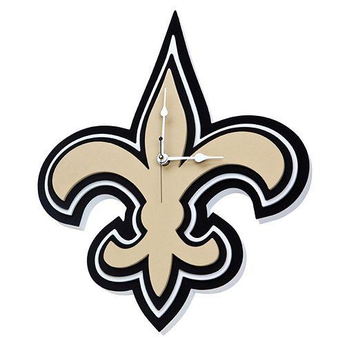 New Orleans Saints 3D Foam Wall Clock