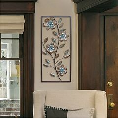 stratton home decor flower panel metal wall art - Metal Wall Art Decor