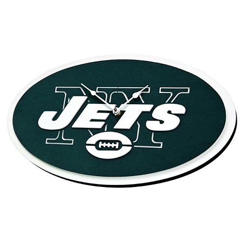 New York Jets 3D Foam Wall Clock