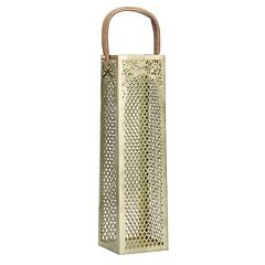 Elements Square Diamond-Cut Single Bottle Wine Bag