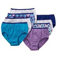 Girls 4-16 Hanes 8-pk. Patterned Cotton Briefs