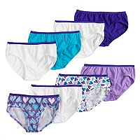 Girls 4-16 Hanes 8-pk. Patterned Cotton Hipster Panties