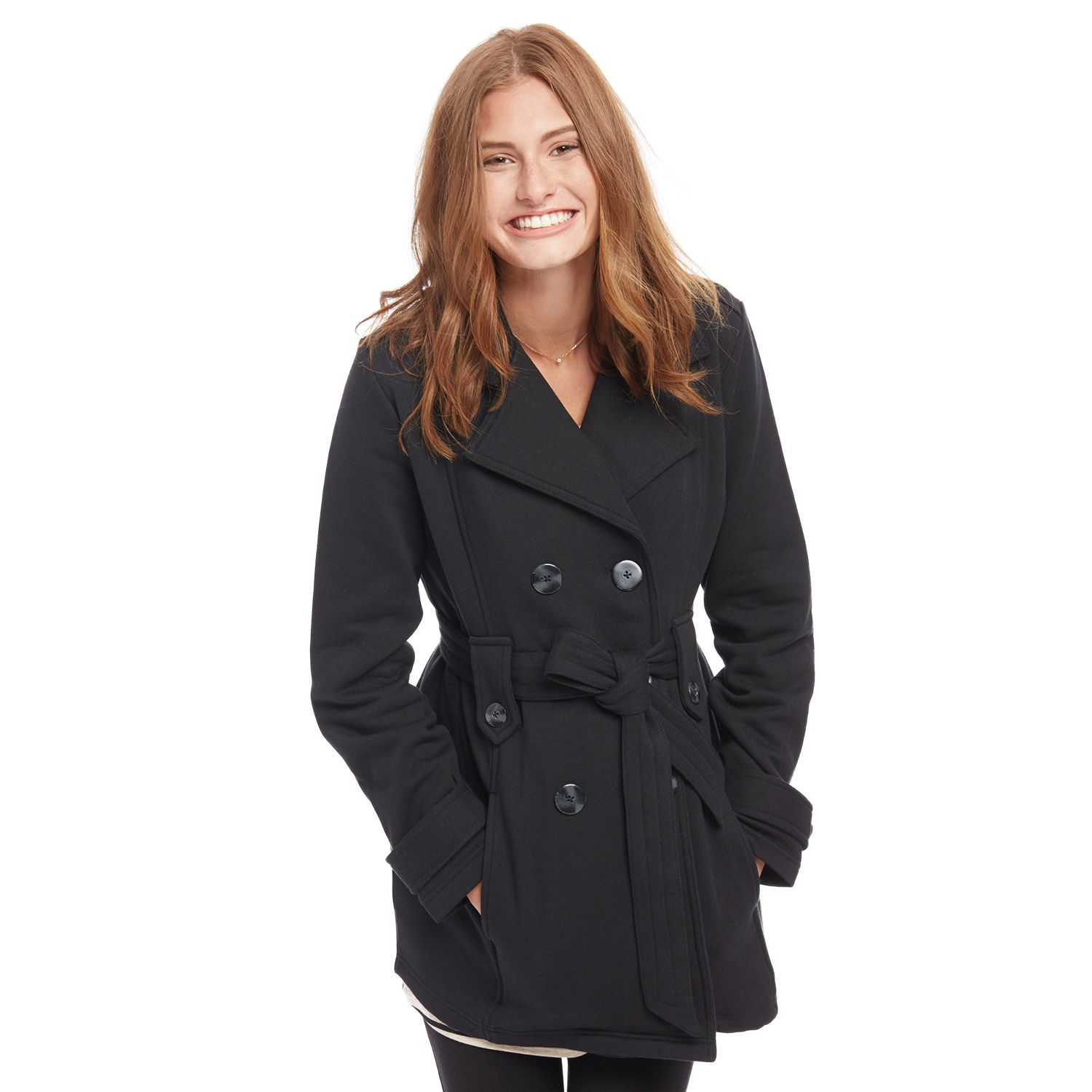 Maternity Oh Baby by Motherhood? French Terry Peacoat