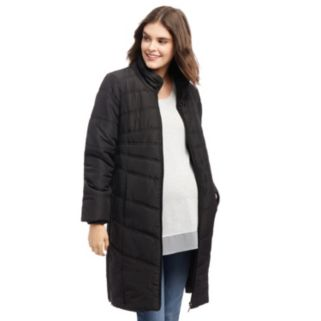 Maternity Oh Baby by Motherhood™ Long Quilted Puffer Jacket