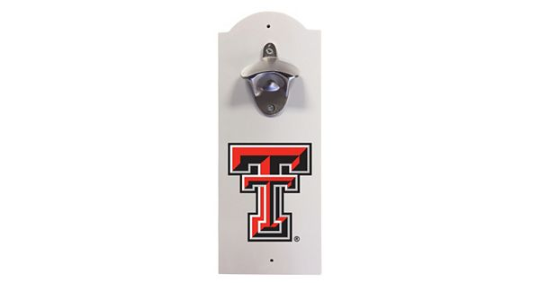 texas tech red raiders wall mounted bottle opener. Black Bedroom Furniture Sets. Home Design Ideas