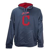 Men's Stitches Cleveland Indians Embossed Performance Fleece Hoodie