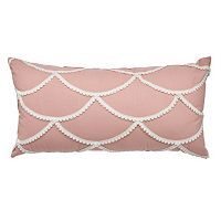 LC Lauren Conrad Crochet Scallop Throw Pillow