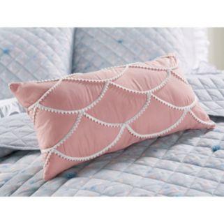LC Lauren Conrad Crochet Scallop Throw Pillow