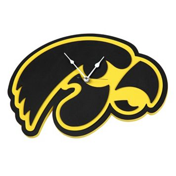Iowa Hawkeyes 3D Foam Wall Clock