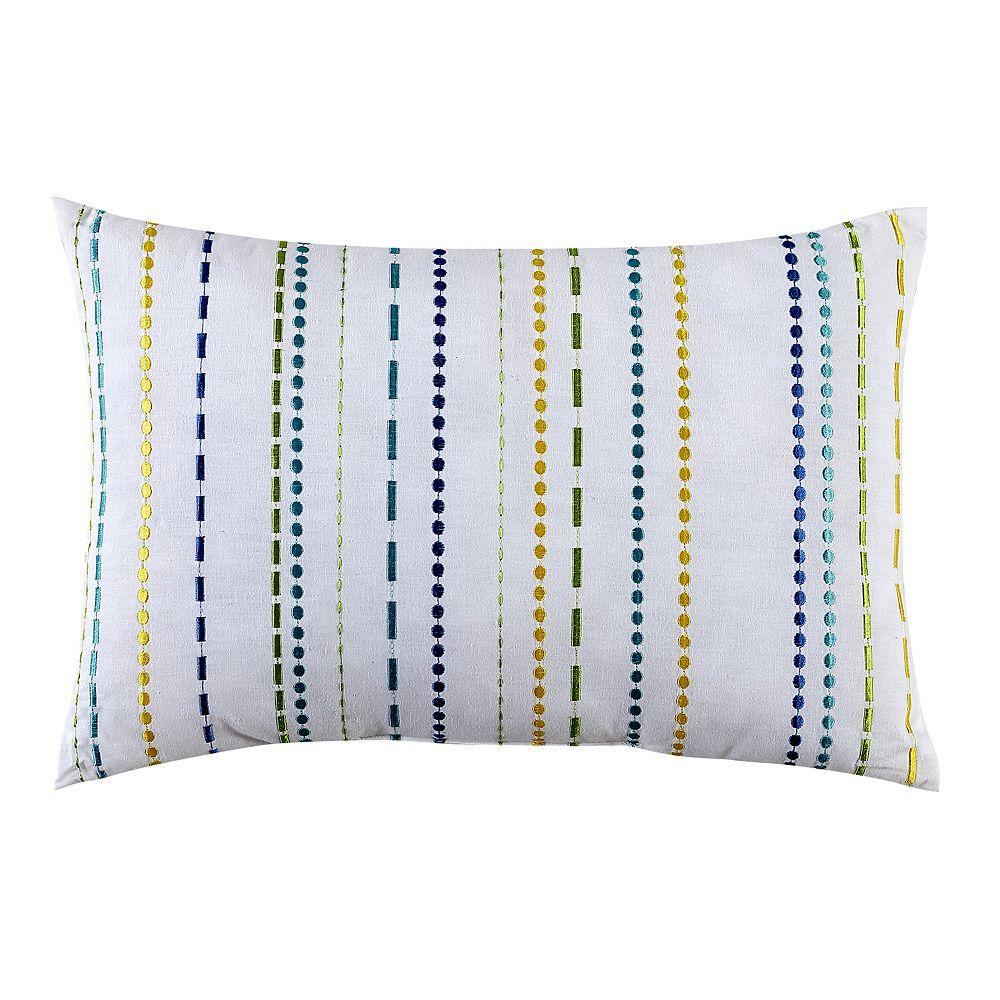 Fiesta Embroidered Stripe Throw Pillow