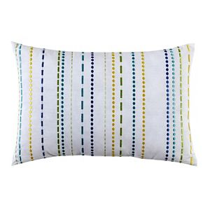 Fiesta Embroidered Stripe Throw Pillow