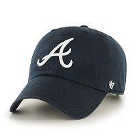 Adult '47 Brand Atlanta Braves Road Clean Up Cap