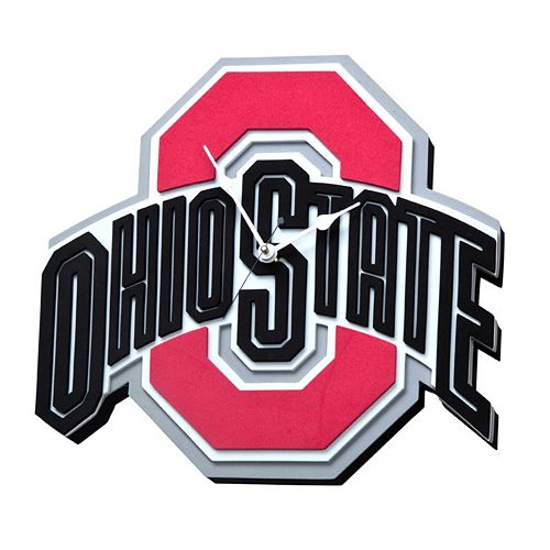 Ohio State Buckeyes 3D Foam Wall Clock