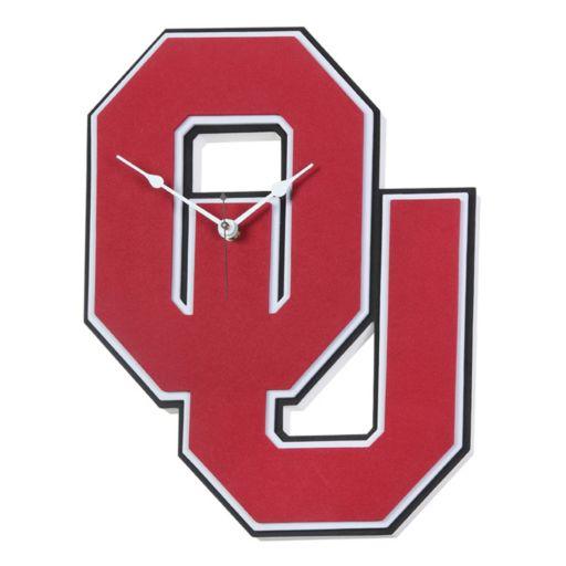 Oklahoma Sooners 3D Foam Wall Clock