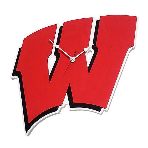 Wisconsin Badgers 3D Foam Wall Clock