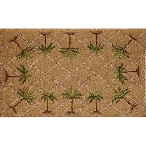 Rugs America Lenai Sunny Palm Indoor Outdoor Rug