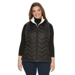 Juniors' Plus Size SO® Sherpa Puffer Vest