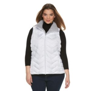 Juniors' Plus Size SO® Sherpa Puffer Vest