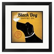 Metaverse Art 'Black Dog Coffee Co.' Framed Wall Art