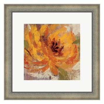 Metaverse Art Fiery Dahlias I Framed Wall Art