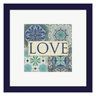 "Metaverse Art Santorini I ""Love"" Framed Wall Art"
