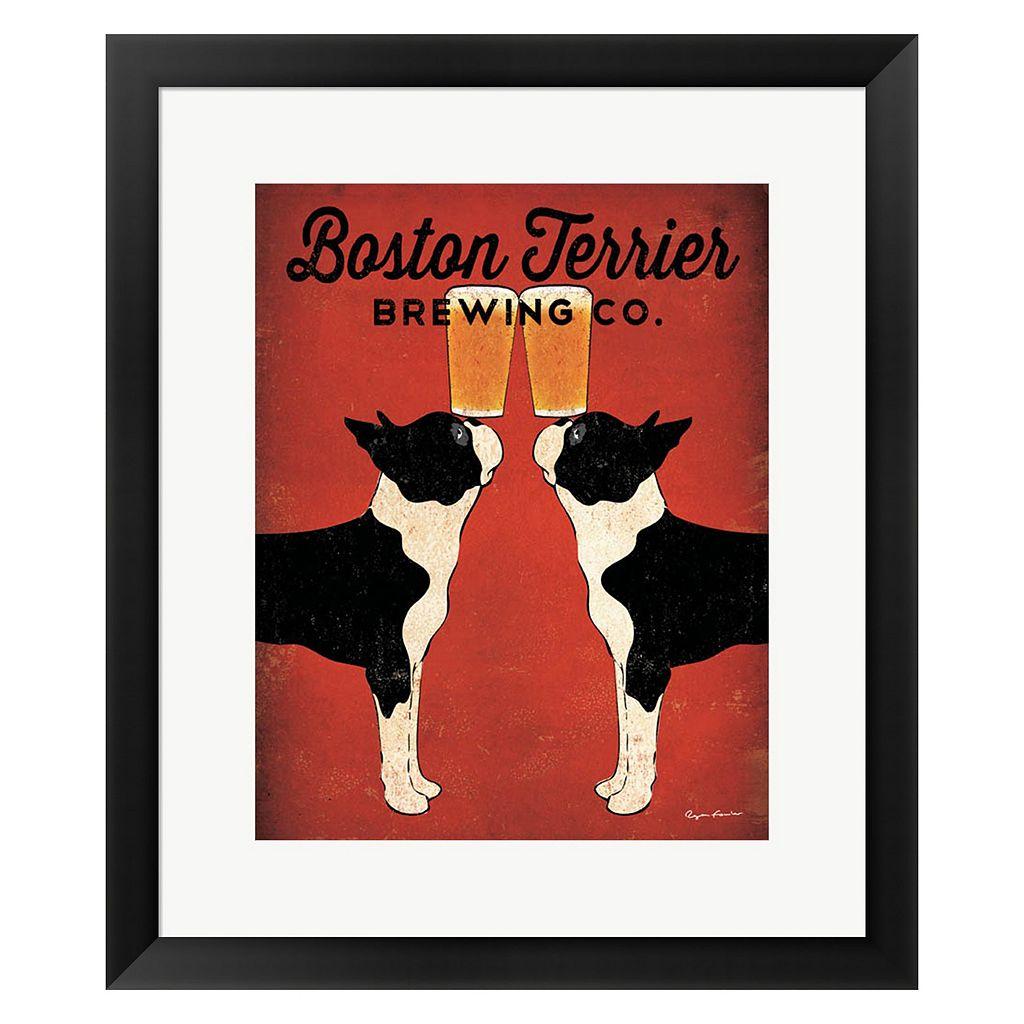 Metaverse Art Boston Terrier Brewing Co. Framed Wall Art