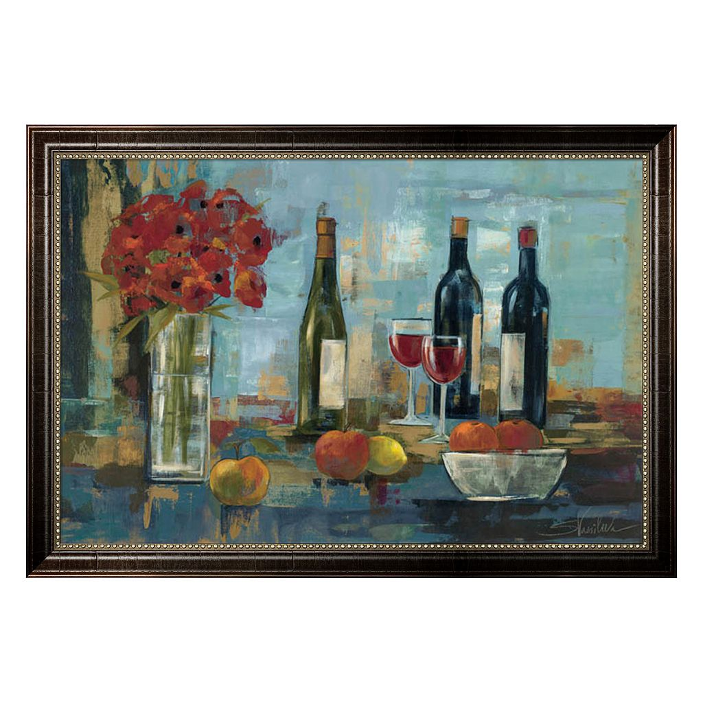 Metaverse Art Fruit and Wine Framed Wall Art