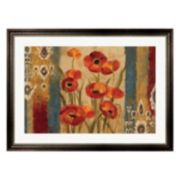 Metaverse Art Ikat Floral Tapestry Framed Wall Art