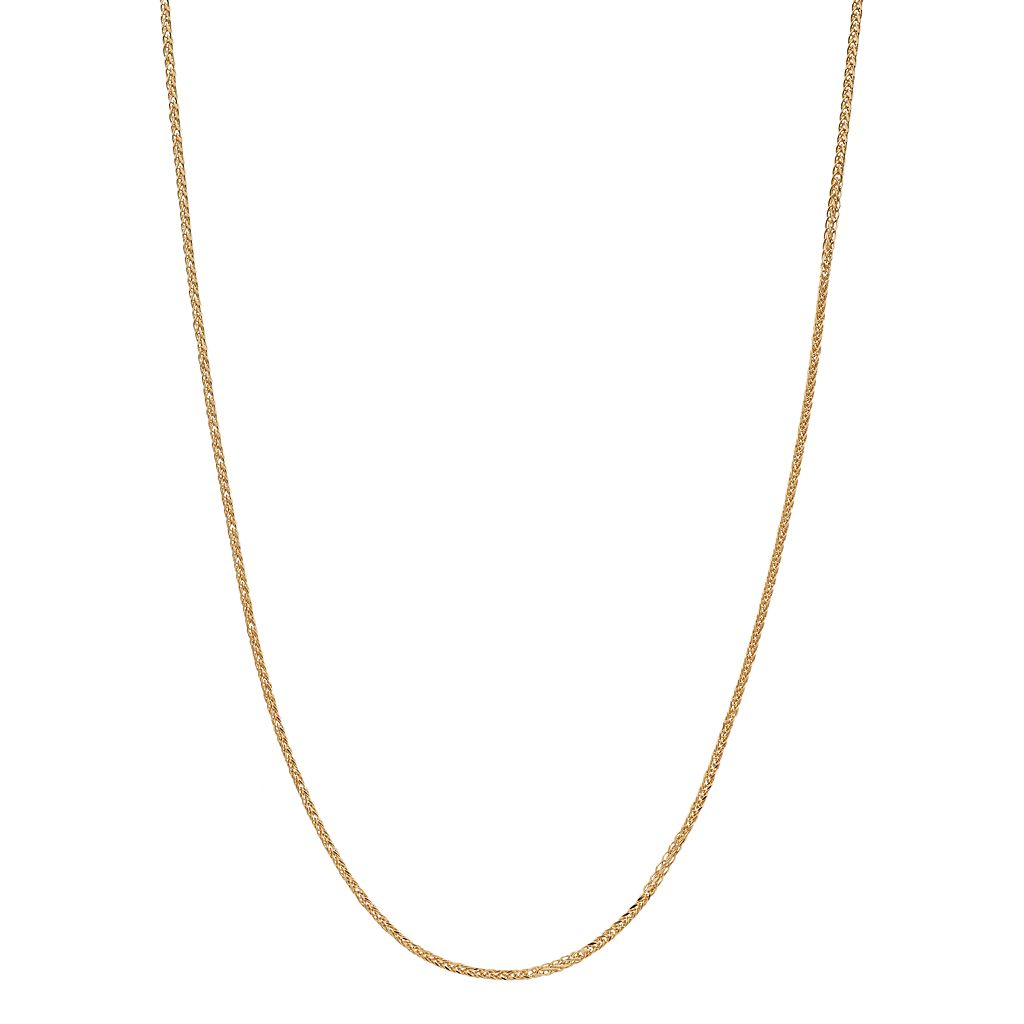 18k Gold Wheat Chain Necklace - 18 in.
