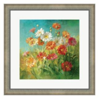 Metaverse Art Painted Daisies Framed Wall Art