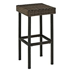 Palm Harbor Outdoor Wicker Bar Stool 2 pc Set