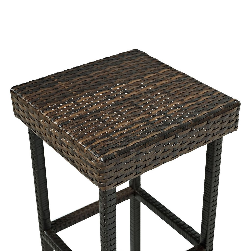 Palm Harbor Outdoor Wicker Bar Stool 2-piece Set