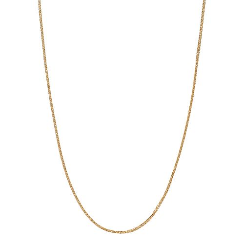 18k Gold Wheat Chain Necklace - 24 in.