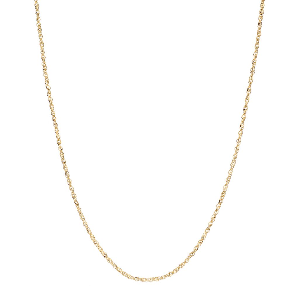 18k Gold Singapore Chain Necklace - 20 in.