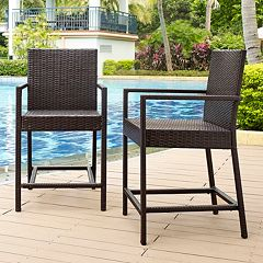 Palm Harbor Faux Wicker Bistro Stool 2 pc Set