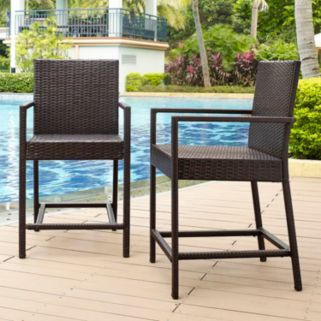 Palm Harbor Faux Wicker Bistro Stool 2-piece Set