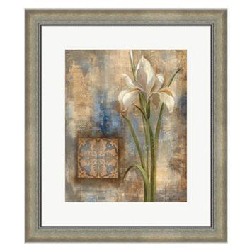 Metaverse Art Iris and Tile Framed Wall Art