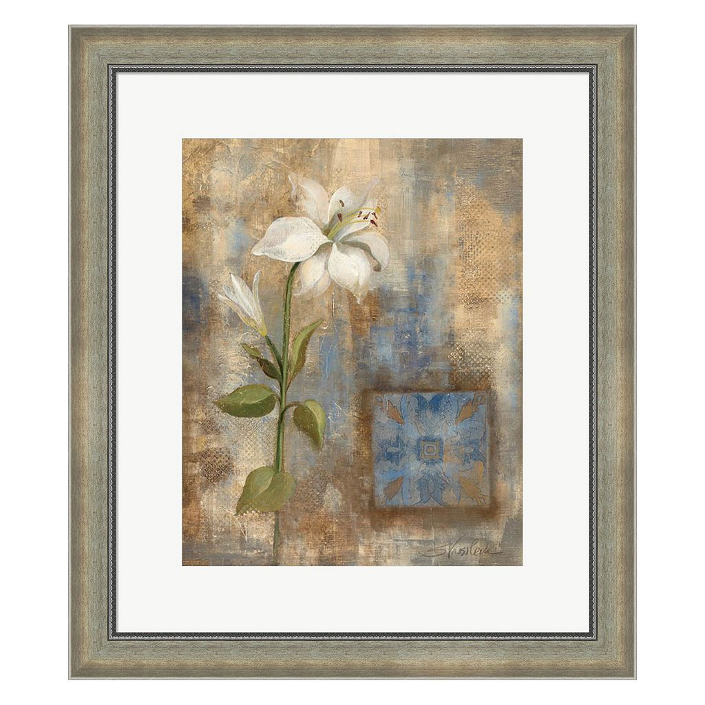 Metaverse Art Lily and Tile Framed Wall Art